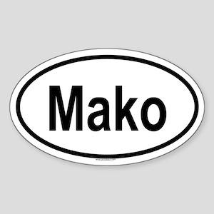 MAKO Oval Sticker