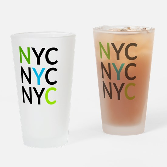 Funny Ny subway Drinking Glass