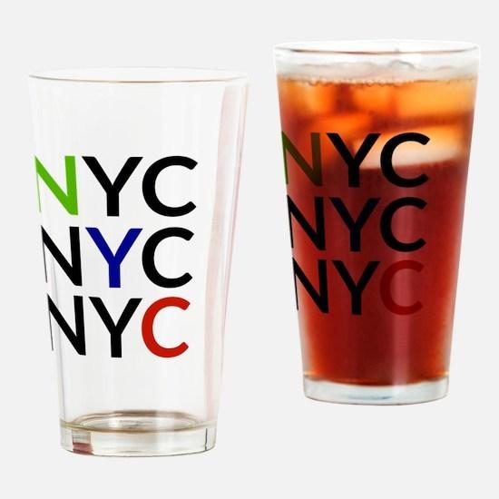 Funny Ny subway Drinking Glass