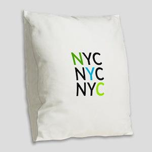 NYC Burlap Throw Pillow