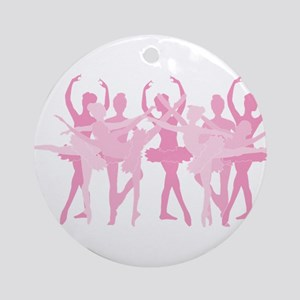 The Grand Ballet - Pink Round Ornament