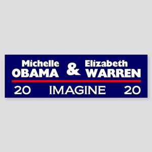 Michelle Obama & Elizabeth Warren Bumper Stick