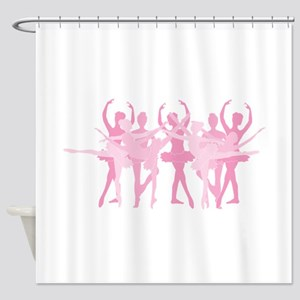 The Grand Ballet - Pink Shower Curtain
