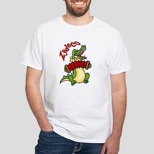 Zydeco Gator White T-Shirt