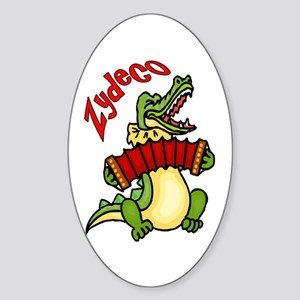 Zydeco Gator Oval Sticker