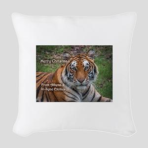 Athena Picture Ornament Woven Throw Pillow