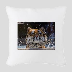 Cincinnati Picture Ornament Woven Throw Pillow