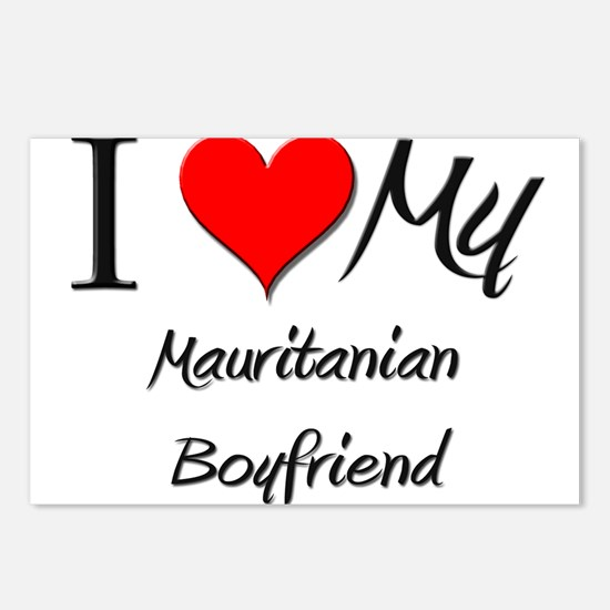 I Love My Mauritanian Boyfriend Postcards (Package