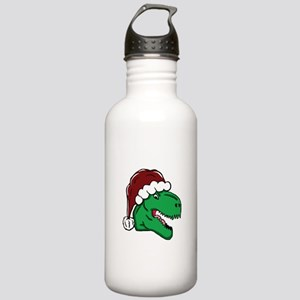 Santa Hat T-Rex Water Bottle