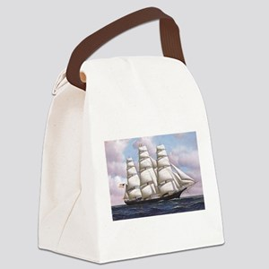 The American clipper ship Flying Canvas Lunch Bag