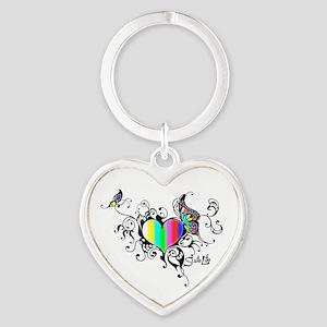 Frilled Color Bar Heart Keychains