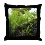 Ferns on Oak Tree Throw Pillow