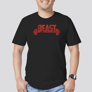 Beast Red Men's Fitted T-Shirt (dark)