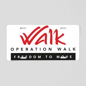 Operation Walk Freedom to move Logo Aluminum Licen
