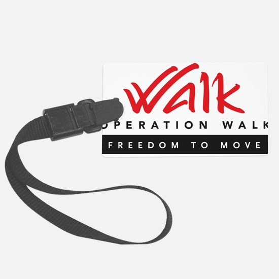 Operation Walk Freedom to move Logo Luggage Tag
