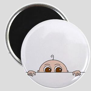 """PEEK-A-BOO BABY (BROWN EYES) 2.25"""" Magnet (100 pac"""