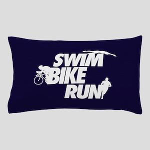 Swim Bike Run Pillow Case