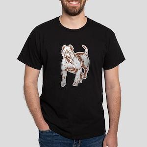 Pit bull w brn 1 Dark T-Shirt