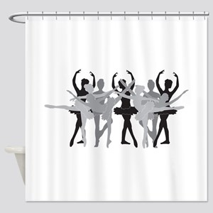 The Grand Ballet - Black Shower Curtain