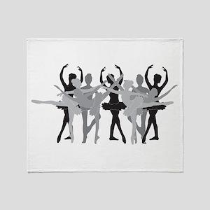The Grand Ballet - Black Throw Blanket
