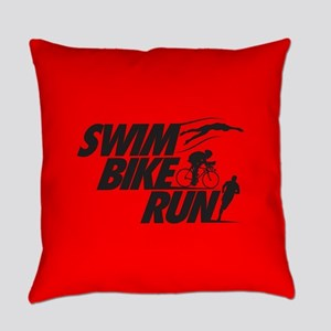 Swim Bike Run Everyday Pillow