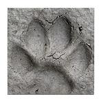 Gray Fox Track Tile Coaster