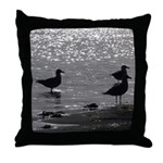 Gulls Wading Throw Pillow