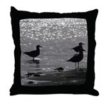 Gulls Wading Throw Pillow