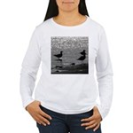 Gulls Wading Long Sleeve T-Shirt