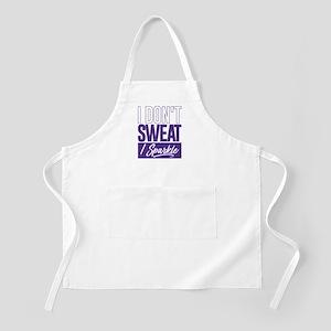 I Don't Sweat Purple Apron