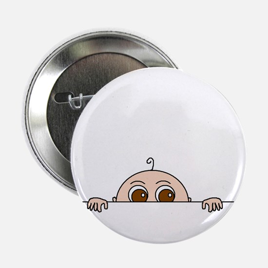 "PEEK-A-BOO BABY (BROWN EYES) 2.25"" Button"