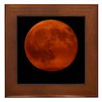 Red Moon Framed Tile