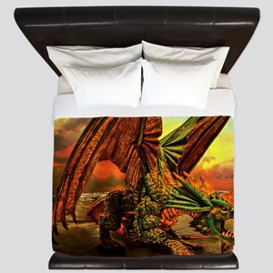 Fantasy Dragon from the Underworld King Duvet