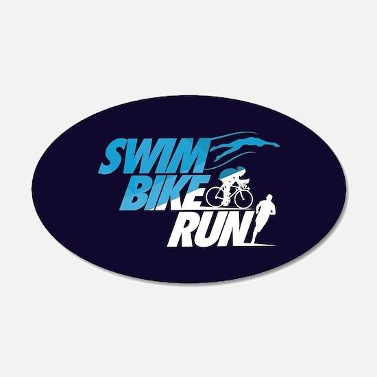 Swim Bike Run Wall Decal