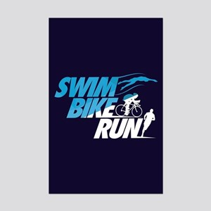 Swim Bike Run Mini Poster Print