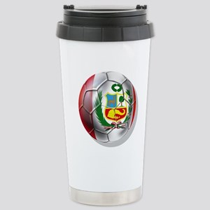Peru Soccer Ball Travel Mug