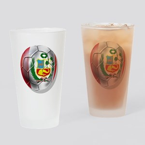 Peru Soccer Ball Drinking Glass