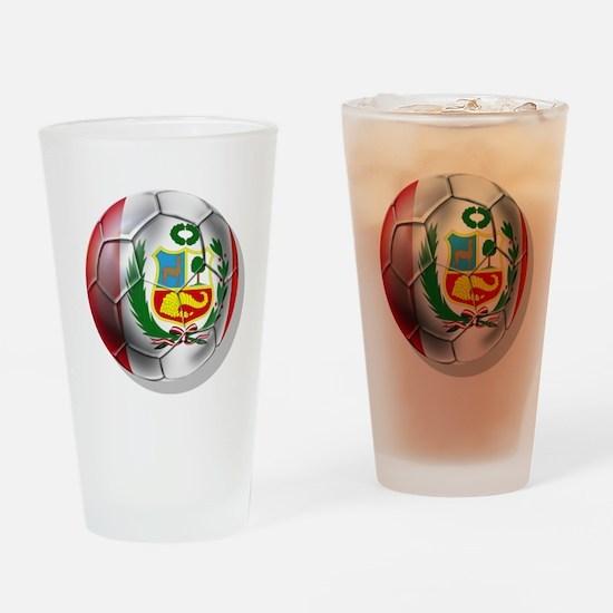 Peru Soccer Ball Drinking Glass