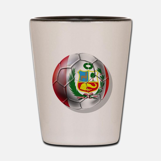 Peru Soccer Ball Shot Glass