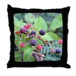 Wild Raspberries Throw Pillow