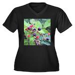 Wild Raspberries Plus Size T-Shirt