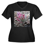Pink Flowers Plus Size T-Shirt