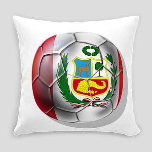 Peru Soccer Ball Everyday Pillow