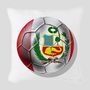 Peru Soccer Ball Woven Throw Pillow