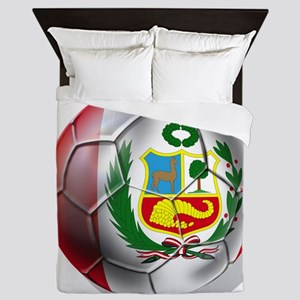 Peru Soccer Ball Queen Duvet
