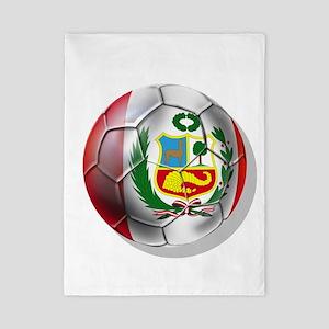 Peru Soccer Ball Twin Duvet