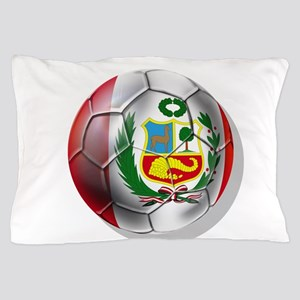 Peru Soccer Ball Pillow Case