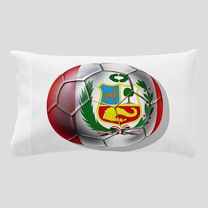 Peru Soccer Ball Pillow Case