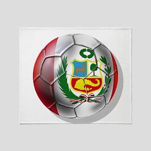 Peru Soccer Ball Throw Blanket