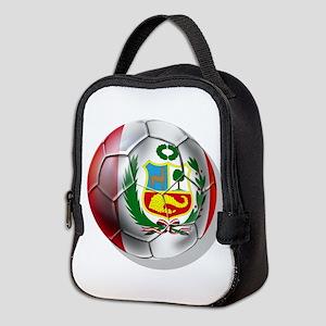 Peru Soccer Ball Neoprene Lunch Bag